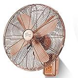 ZZHFS BBGS Ventilador Eléctrico, Ventiladores De Pared De Metal Vintage-Control Remoto Sincronización Hogar Antiguo Ventilador Eléctrico con Cabeza De Sacudida, 16' (Color : Remote Control)