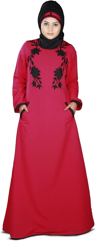 Max 48% OFF MyBatua Alma Rose Ranking TOP12 Pink Kashibo ay-427 Muslim Islamic Abaya Dress