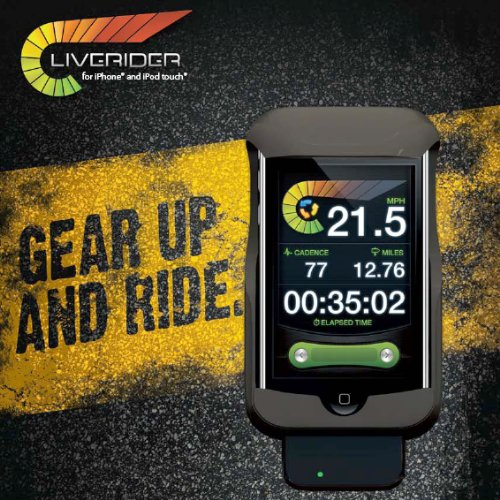 New Potato Technologies LiveRider Cycling Computer for iPhone/iPod Touch Retail Packaging - Black