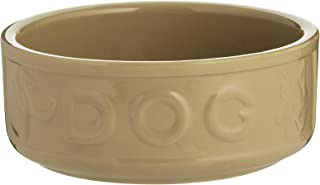 Mason Cash 2030.307 Cane Lettered Stoneware Dog Bowl, 1.2L, Brown 28485