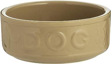 Mason Cash Cane Lettered Stoneware Dog Bowl, 1.2L, White 28485