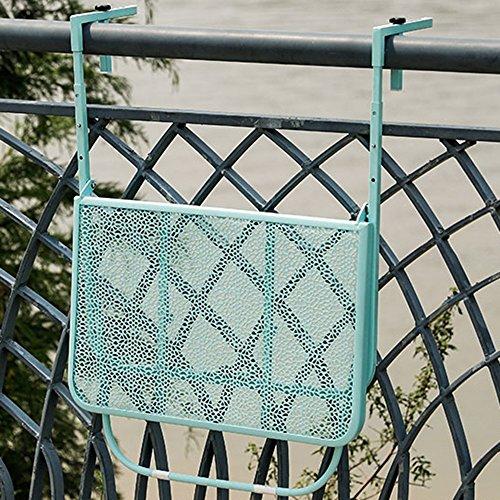 HNWNJ Mesas auxiliares Balcón Colgando Mesa Plegable Vertical barandilla de Metal Forjado del Hierro Que cuelga Simple de Estilo Europeo Mesa Plegable Mini Colgar de la Pared Aprendizaje de la Tabla