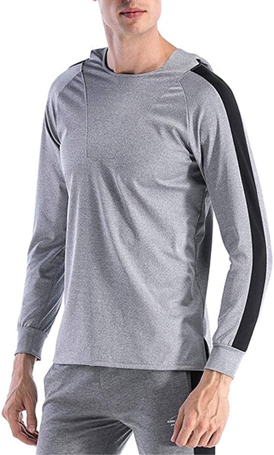 Men's Compression Tops Men's Shirt Running QuickDrying Jacket Even The Sweatshirt Compression Dry Sports Training Suit Men's Fitness Long Sleeve Shirt,Men's Fitness Lo (Size   L)
