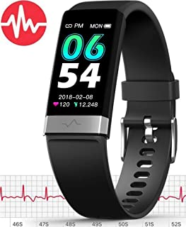 MorePro ECG Monitor Watch, Waterproof Fitness Tracker with Heart Rate Blood Pressure Monitor,  Activity Tracker with Enhanced Sleep Monitor for Android iOS,  Pedometer Calorie Step Counter for Women Men