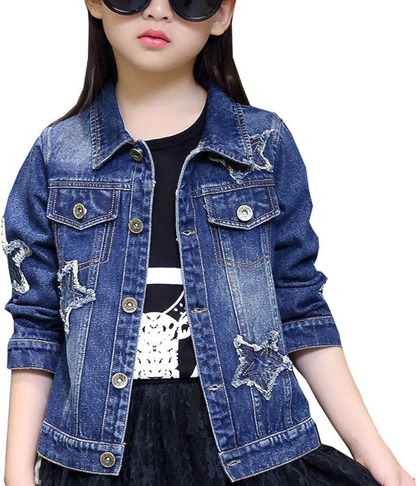 Denim Jackets Girl Denim Jackets Classic Basic Button Down Coat Girls' Outwear