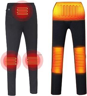 MONYEAR電熱 服USB加熱 バッテリー給電 3段温度調整 電熱 服 男女兼用 裏起毛 腰 腿 ふくらはぎ 発熱 室内着 防風 防寒着 冬作業服 電熱ウェア 付 節電 (L, メンズブラック)