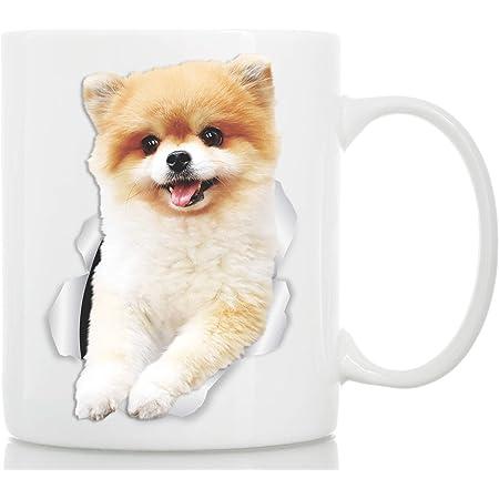 Spitz Pomeranian Dog Cup Mug HASHTAG Dog breed Pet Animal Coffee Tea