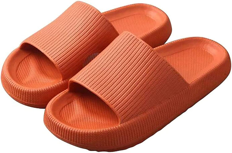 CHENGLONGTANG Slippers flip Flops Lazy Shoes Women Men Beach Slippers with Pillow, Ultra Soft Sandal Slipper Non-Slip Shoes, Beach Shoes Shower Pool Slippers Summer Open Slippers