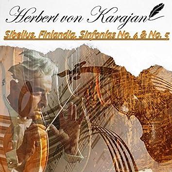 Herbert von Karajan, Sibelius, Finlandia, Sinfonías No. 4 & No. 5