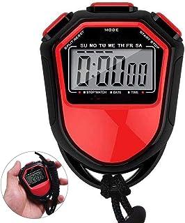 CXQWAN stoppur timer, stor stoppklocka, för simning löpning fotboll träning, stötsäker sport stoppur för tränare domare ut...