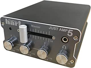 Maker Hart Just Amp 5 - Compact Integrated Amplifier with Phono Preamp, 3-Band Active EQ, Send/Return Effects Loop - Mic Stand Mount