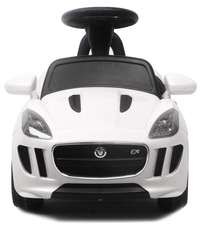電動乗用玩具 ジャガー ミニ [カラー:ホワイト] [DMD-238](JAGUAR F-type R) 品のハイクオリティ ペダルで簡単操作可能な電動カー 電動乗用玩具 乗用玩具 子供が乗れる