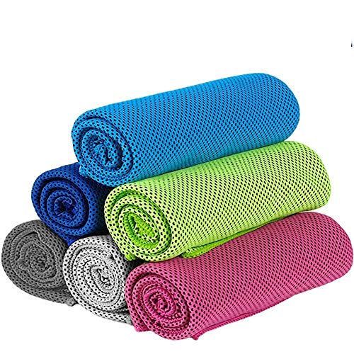 6 PCS 2 Size Cooling Towel - Cooling Towels for Neck - Ice Towel Chilly...