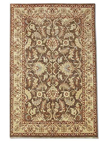 Pak Persian Rugs handgeknoopt Sultanabad tapijt, taupe, wol, medium, 194 x 297 cm