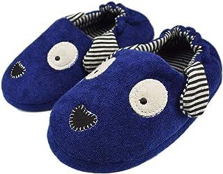 Tirzro Little Kids Boys Girls Winter Warm Slippers Toddler Indoor Cute Animals Slip-on Shoes