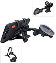 Ramtech Universal 360° Rotating Car Windshield Suction Mount Dual Clip Holder Bracket Stand For Magellan RoadMate RV 9145-LM RV9165T-LM RV9365T-LMB RV9490T-LMB GPS (WMDC)