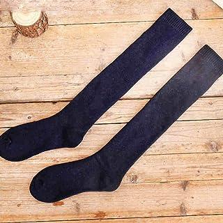 3 Pares De Rodilleras De Invierno para Hombres, Invierno Cálido Alto para Ayudar A Calcetines Largos, Calcetines Gruesos De Algodón