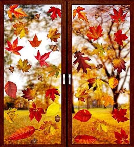 window decals leaves - 2