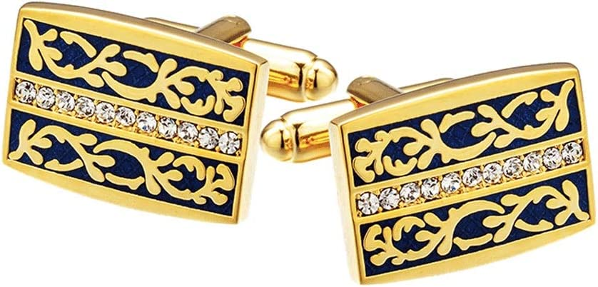 ZZABC Jewelry Fashion Shirt Cufflinks for Mens Gift Cuff Links Buttons Design Guests