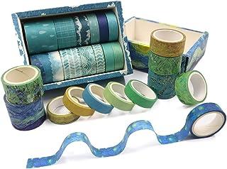 Lot de 24 rouleaux de ruban adhésif washi décoratif inscriptible pour travaux manuels, scrapbooking, bricolage, emballage ...