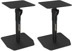 Audibax Neo STM-20 Support de table réglable pour moniteur, studio et haut-parleur (paire)