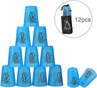 Quick Stacks Cups Dewel 12 Sets of Sports Stacking Cups Speed Training Game