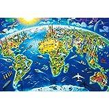 GuDoQi Puzzle da 1000 Pezzi Adulti Puzzle Mappa del Mondo Divertente per Bambini Adolescente