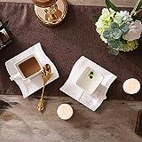 MALACASA, Serie Flora, 18 TLG. Set CremeWeiß Porzellan Kaffeeservice Geschirrset mit je 6 Kuchenteller, 6 Tasse 220ml, 6 Untertasse für 6 Personen - 2