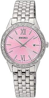 Seiko Womens Quartz Watch, Analog Display and Stainless Steel Strap SUR693P1