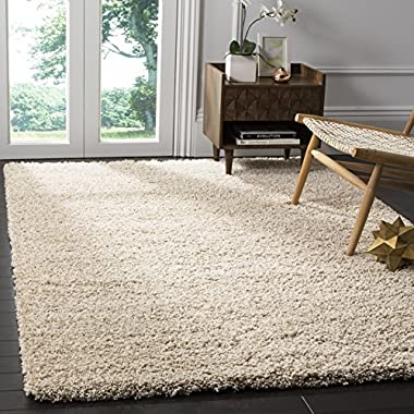Safavieh California Premium Shag Collection SG151-1313 Beige Square Area Rug (8'6 Square)