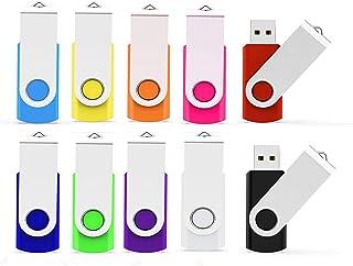 USB Flash Drive 32GB 10 Pack, ALMEMO USB Thumb Drive 2.0 High Speed USB Thumb Drive Memory Stick Jump Drive Zip Drives Pen...