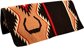 Tahoe Tack Lucky Horseshoe Hand Woven Wool Western Saddle Blankets - Size 34