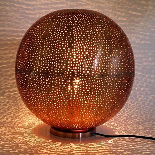 Guru-Shop Deco Tafellamp/tafellamp in Marrocaans Design, Verkoperd, Oosterse Vloerlamp, Metaal, 30x30x30 cm, Oosterse Tafellampen