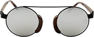 Swole Panda - Silver Lenses Morpheus Bamboo Sunglasses with Pouch and Case SP009
