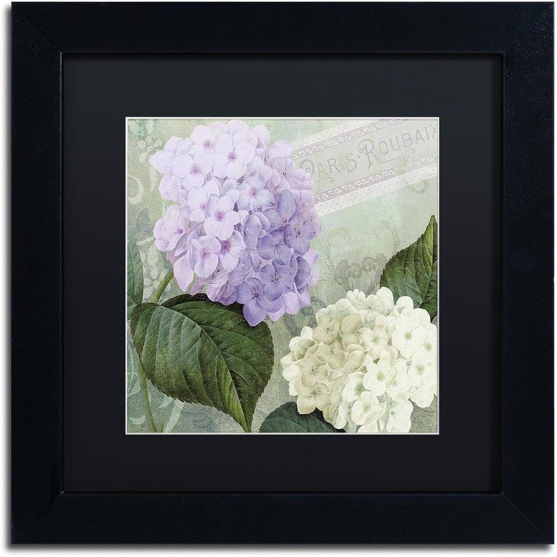Trademark Fine Art Hortensia 1 by color Bakery, Black Matte, Black Frame 11x11, Wall Art