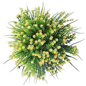 Plantas artificiales, de Amkun, simulación de arbustos de gypsophila, para decoración de mesas de boda, hogar, etc., 4…