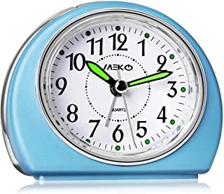 MEKO Alarm Clocks Non-Ticking for Bedrooms, Smart Tickless AA Battery Powered Travel..
