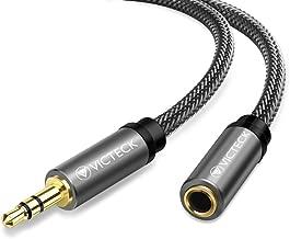 Audio Cable Extensión 3 Metros, Victeck Nylon Trenzado Jack Audio Estéreo 3,5 mm Macho a Hembra Cable de extensión para teléfonos Inteligentes, Auriculares, Reproductores de MP3 y más