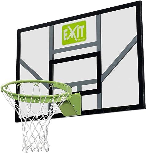 Basketballbrett mit dunking Ring und Netz EXIT Galaxy 117x77cm