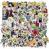 YZFCL Los Siete pecados Capitales Pegatina de Anime Pegatina de Dibujos Animados para monopatín Motocicleta álbum de Recortes DIY Juguete portátil Snowboard 100 Piezas