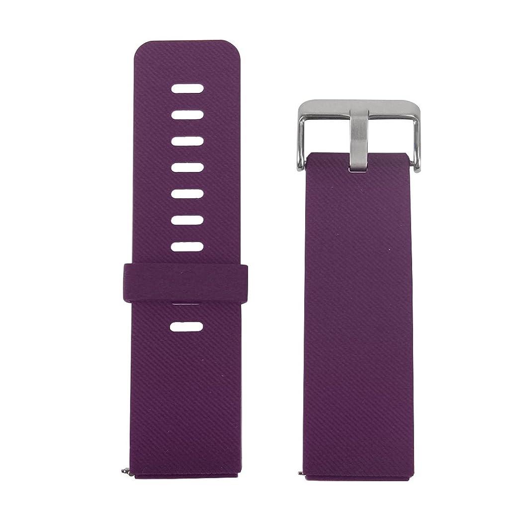 豊富に不機嫌そうな交響曲LUOWANXIU ウォッチバンド Fitbit Blazeウォッチ斜めテクスチャシリコンウォッチバンド、サイズ、長さ:17-20cm (色 : 紫の)