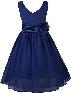 b628f133d0ee4 TiaoBug Enfant Fille Robe Princesse Soirée Cérémonie Robe Demoiselle d honneur  Mariage Robe Mariee Robe