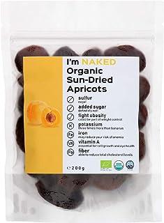 Naked Organic Sun-Dried Apricots, 200g