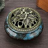 Huakii 𝐑𝐞𝐠𝐚𝐥𝐨 𝐝𝐞 𝐍𝐚𝒗𝐢𝐝𝐚𝐝 Quemador de Incienso anticorrosión, incensario de cerámica de Mano de Obra Exquisita, para Adorno Artesanal de decoración del hogar(Sapphire Blue)