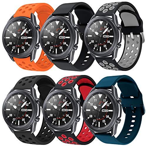 Sycreek Compatibile per Samsung Galaxy Active Cinturino in Silicone Morbido da 20mm Cinturino Sportivo Regolabile Sostituzione Cinturino per Samsung Galaxy Watch 42mm/Gear Sport/Galaxy Watch 3 41mm
