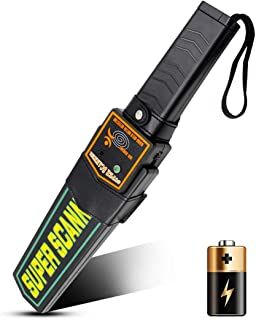 Small Handheld Metal Detector Security Wand Safety Bars,Portable Battery Powered Adjustable Sensitivity, Sound Vibration A...