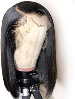YAYAKU 13x6 Short Bob Lace Front Human Hair Wigs Pre Plucked,Brazilian Deep Part Human Hair Bob Wigs with Baby Hair for Women,10 inch