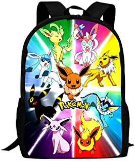 BEKAI E-evee Evolution Poster | School Bags Multiple Pockets Backpack for Kids/Youth/Boys/Girls