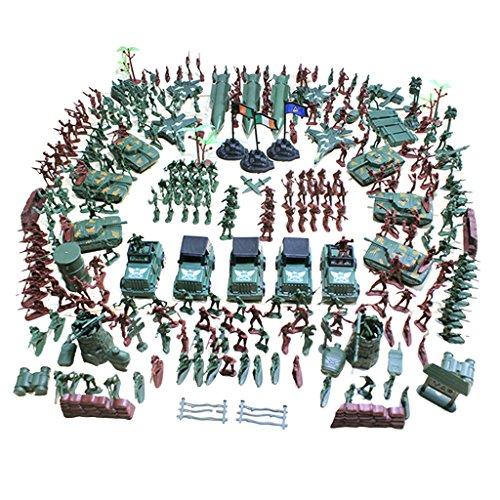 Baoblaze 307 / 519 Stück Plastik 4cm Soldat Figuren Modell Armee Kampf Spielset Geschenk für Kinder - 307 Pcs/Set