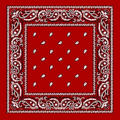 Preisvergleich Produktbild große 68cm Quadrat Baumwolle Bandana Schal rot schwarz weiß klassischen Paisley